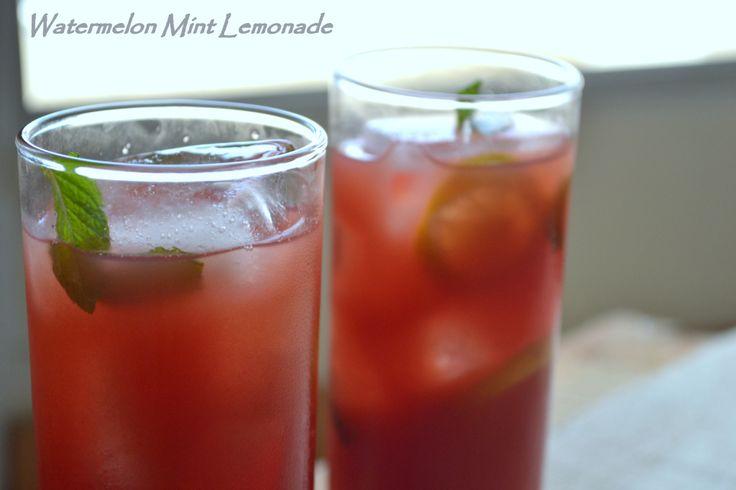 Watermelon Mint Lemonade | I'll Drink to that! | Pinterest