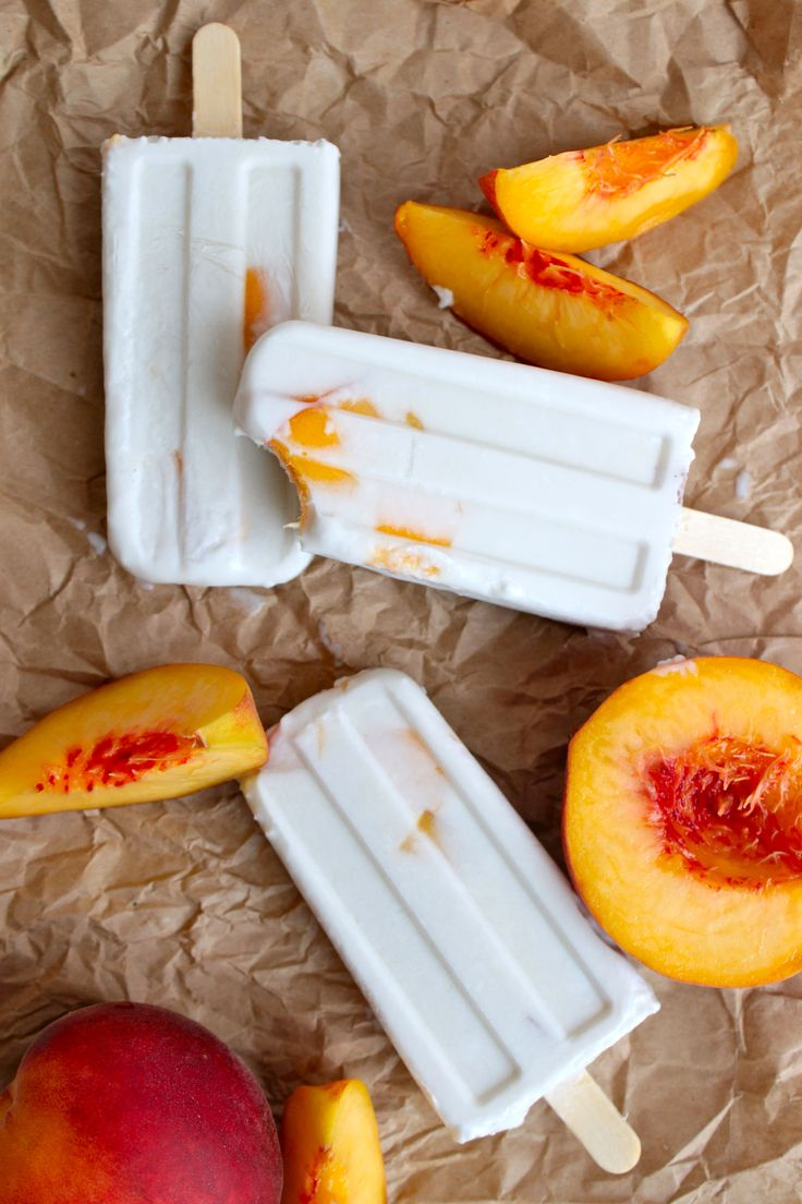 Peaches and Cream Popsicle | Grain free treats | Pinterest