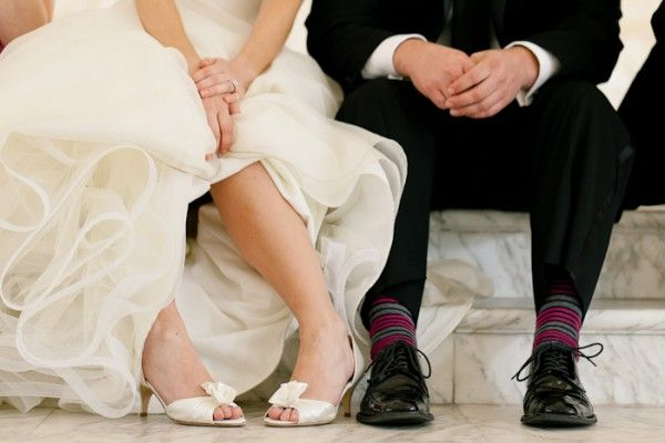 Shoes for the bride and Socks for the groom
