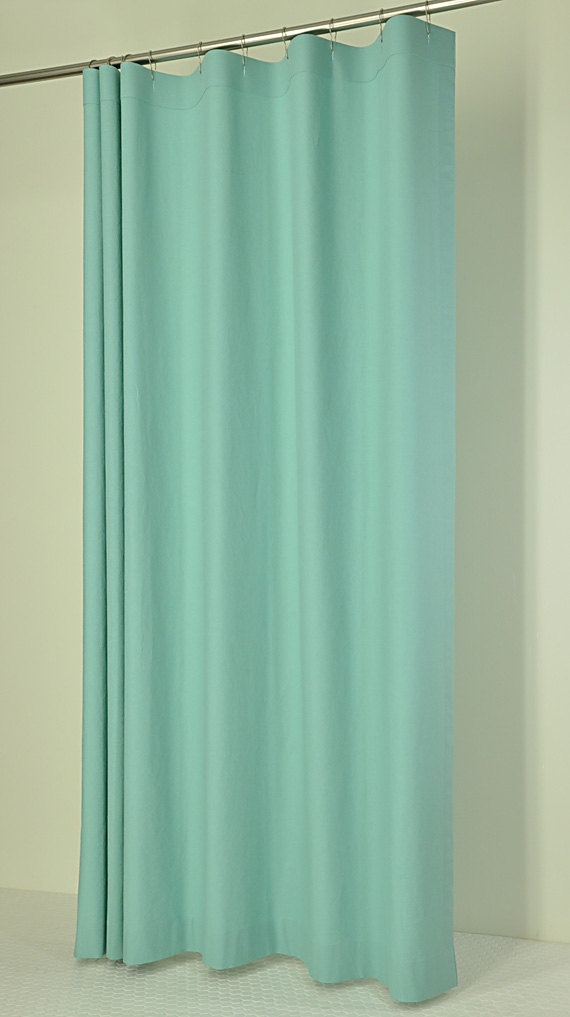 Aqua Linen Shower Curtain For The Home Pinterest