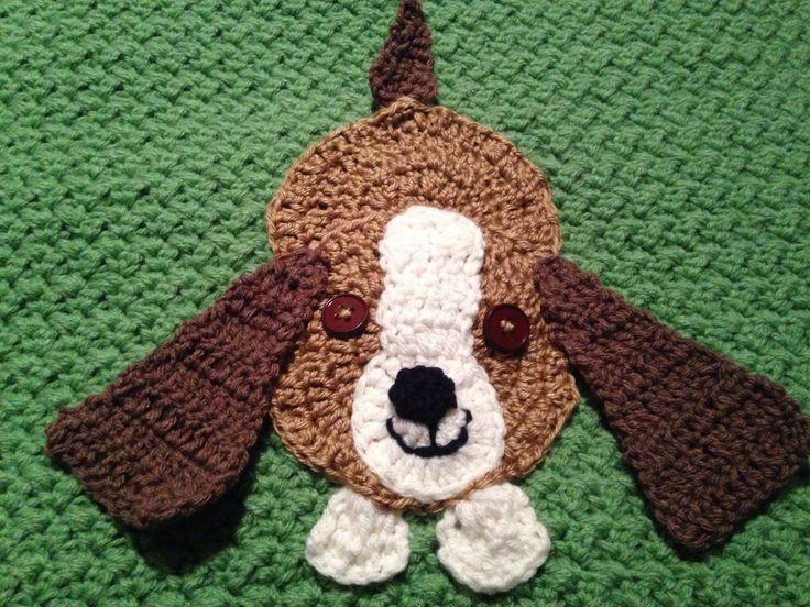 Puppy appliqué crocheted by Johana   Hooked on crochet   Pinterest