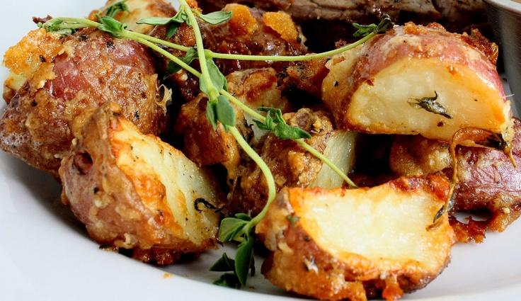 parmesan roasted potatoes | Foodie Fun | Pinterest