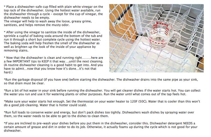 Dishwasher cleaning tips cleaning pinterest - Dish washing tips ...
