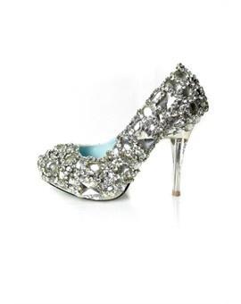 Encrusted Rhinestone Wedding shoes