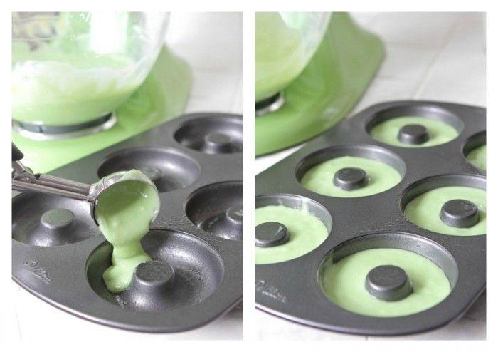Green Velvet Baked Sprinkle Donuts | Recipe