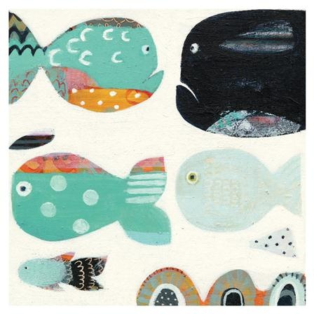Lienzo Funny Fish Art For Little Ones Achica