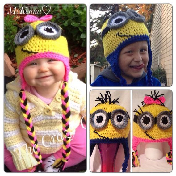 Despicable Me Minion Beanie Girl or Boy by CrazyCrochetHooker, $21.49