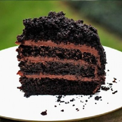 Blackout Cake - extra-deep dark chocolate cake with chocolate pudding ...
