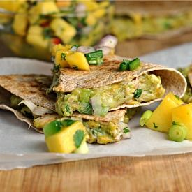 Crab & Avocado Quesadilla with Mango Salsa LOVE IT! yummi yummi :)