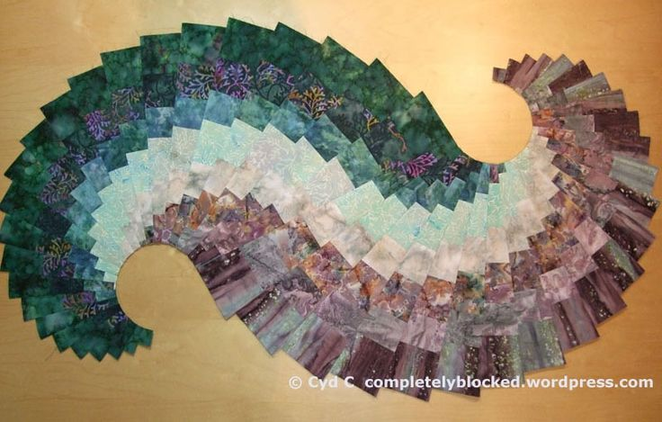 Spicy Spiral Quilted table topper Quilts Pinterest