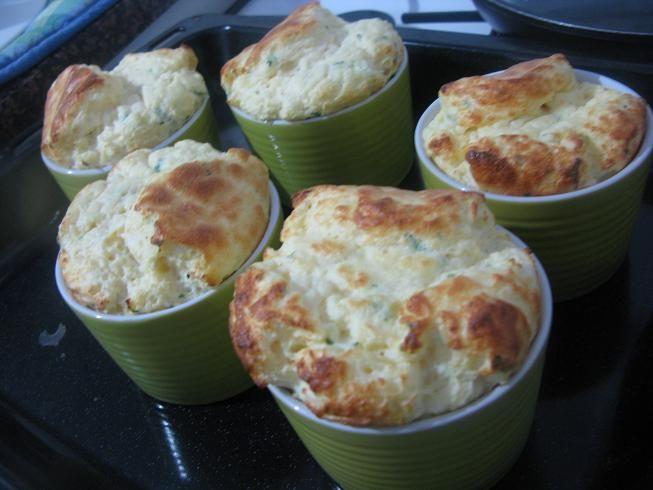 annush   Goats' cheese and herb souffles   furshet   Pinterest