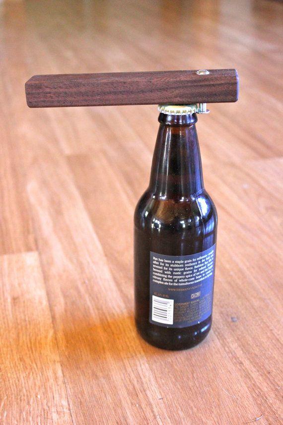 wood beer bottle opener by smithsonfurniture on etsy diy pinterest. Black Bedroom Furniture Sets. Home Design Ideas