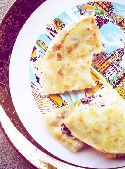 Black Bean and Goat Cheese Quesadillas | I'd eat that! | Pinterest