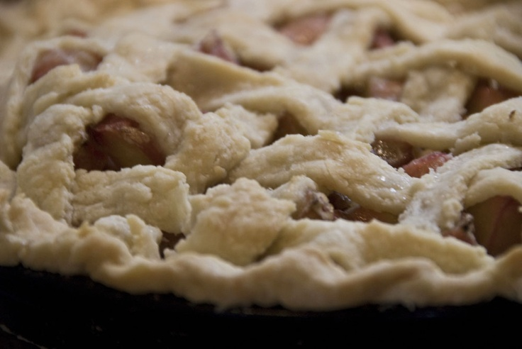 Lattice Topped Rhubarb Pie (1) From: Geneva Lunch > Savouring ...