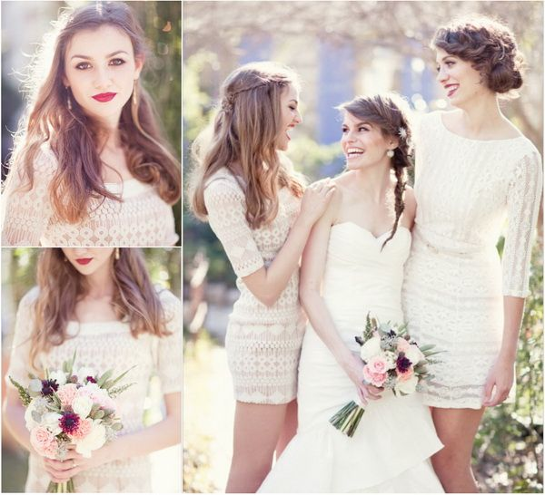 Top 7 Lace Bridesmaid Dresses for Spring Wedding 2014