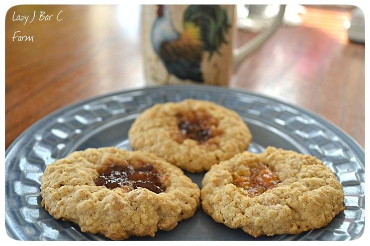 Lazy J Bar C Farm: PB & J Cookies | Recipes - Cookies | Pinterest