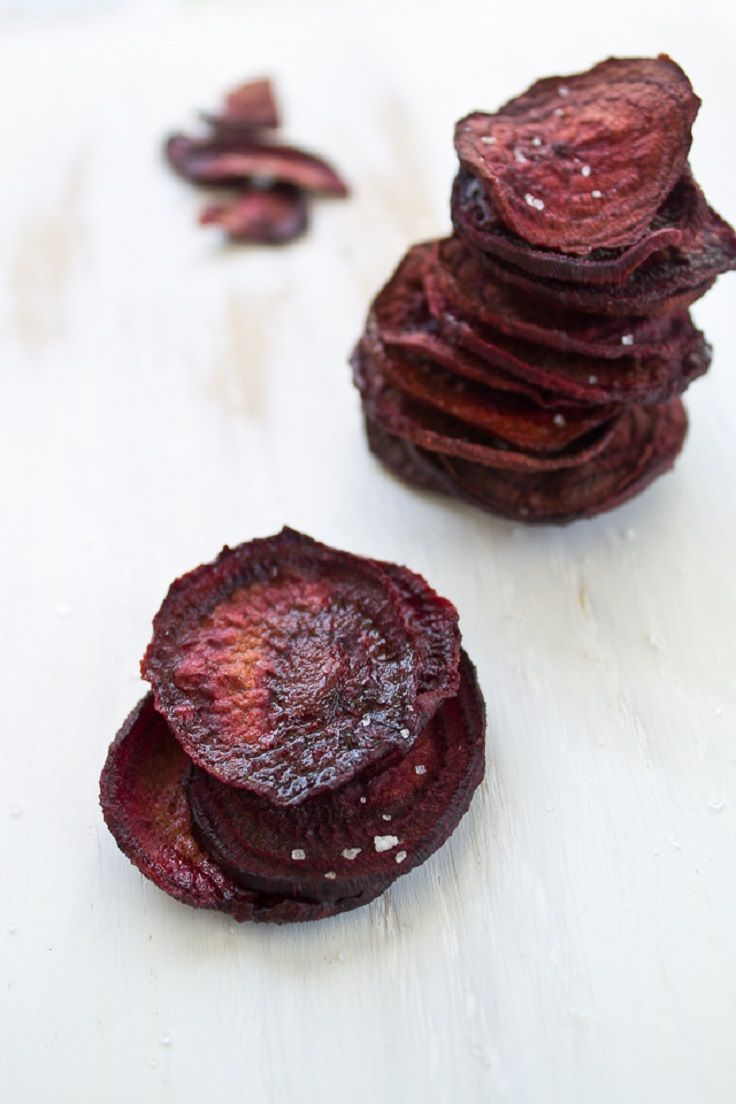 Oven Baked Beet Chips | Food and Drink | Pinterest