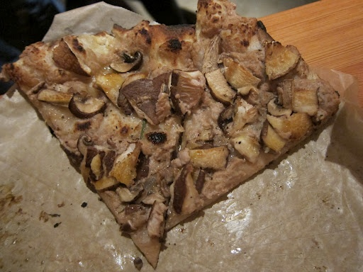 Shiitake with Walnut Puree Pie - recipe on page 106 of 'My Pizza.'