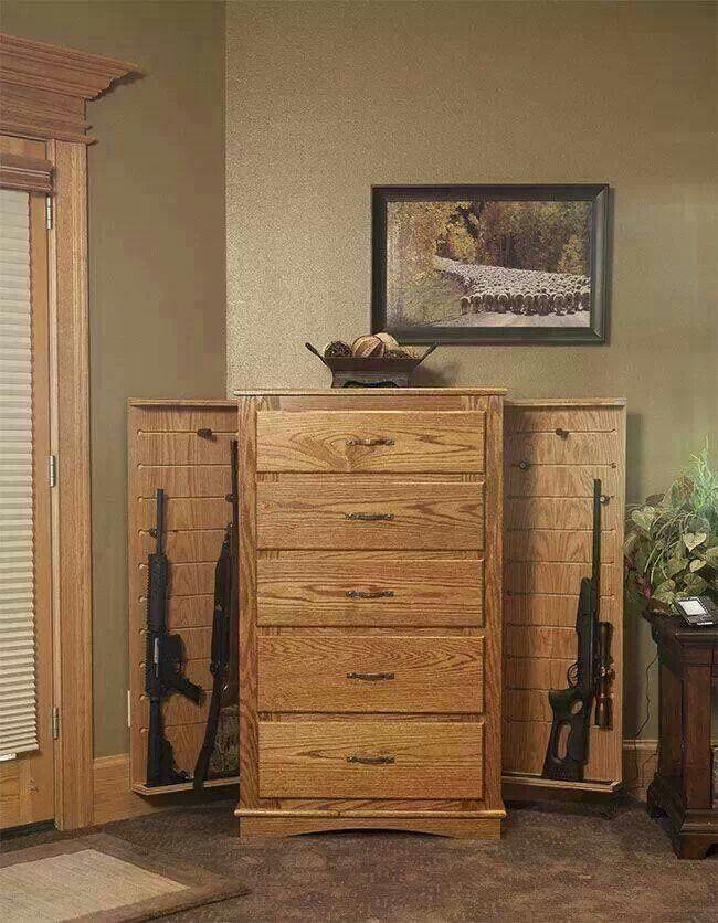 dresser gun cabinet secret service pinterest