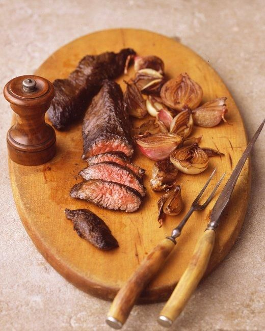 Hanger Steak with Shallots Holiday Dinner Recipe