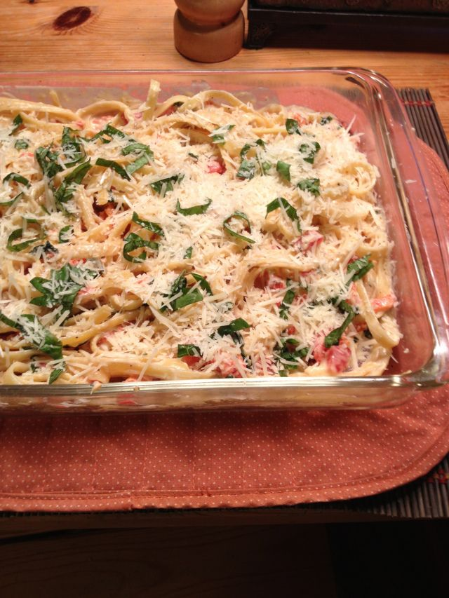 Roasted Red Pepper And Goat Cheese Alfredo Pasta Recipes — Dishmaps