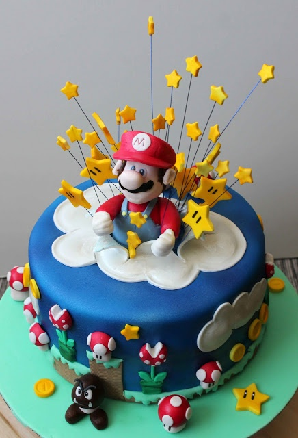 Super Mario Bros exploding cake