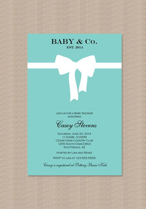 tiffany blue baby shower invitations inspired by by honeyprint