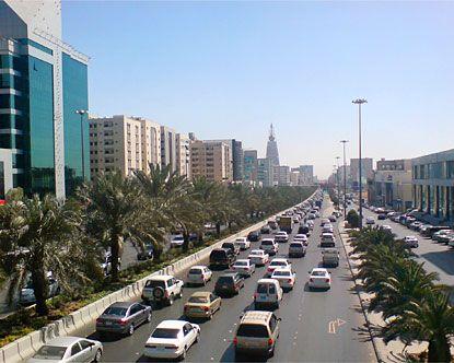 Riyadh, Saudi Arabia during Operation Desert Storm - The Persian Gulf War.