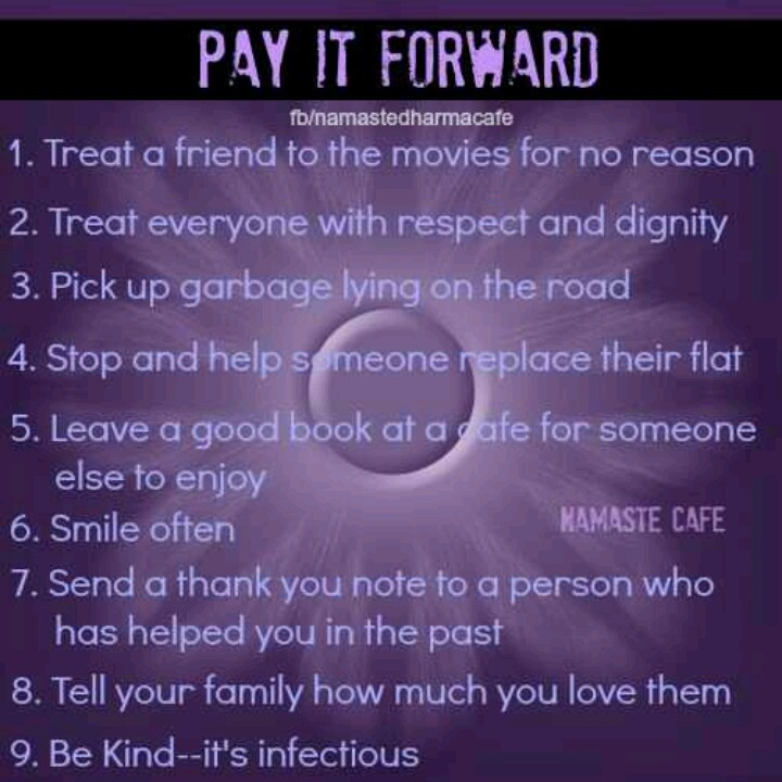 inspirational quotes about paying it forward quotesgram