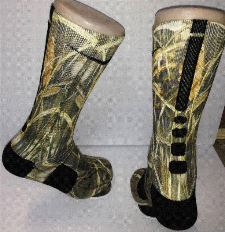 Full custom duck land camo nike elite socks for Custom elite