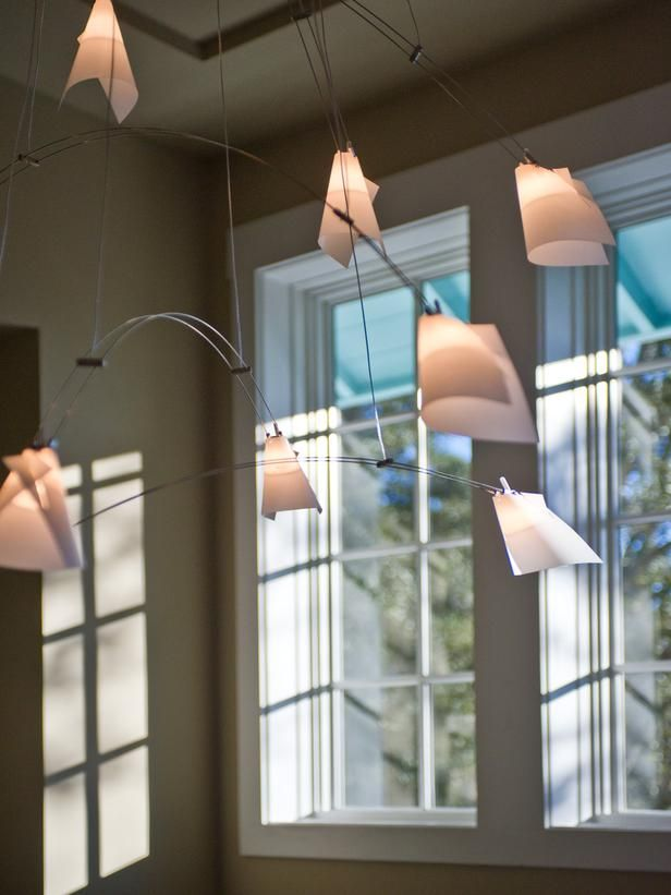 HGTV Smart Home 2013: Artistic View on HGTV -- Cool light fixture for