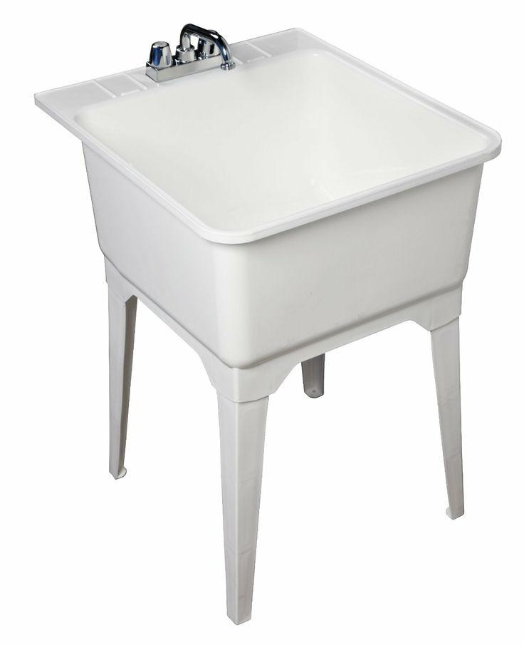 Utility Mop Sink : Utility sink in bathroom? (For basic bathroom use, plus dog-washing ...