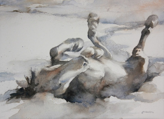 """""""Snow Angel""""   Rankin, C.   2012 Fall Open Juried Exhibition of the American Academy of Equine Artists."""