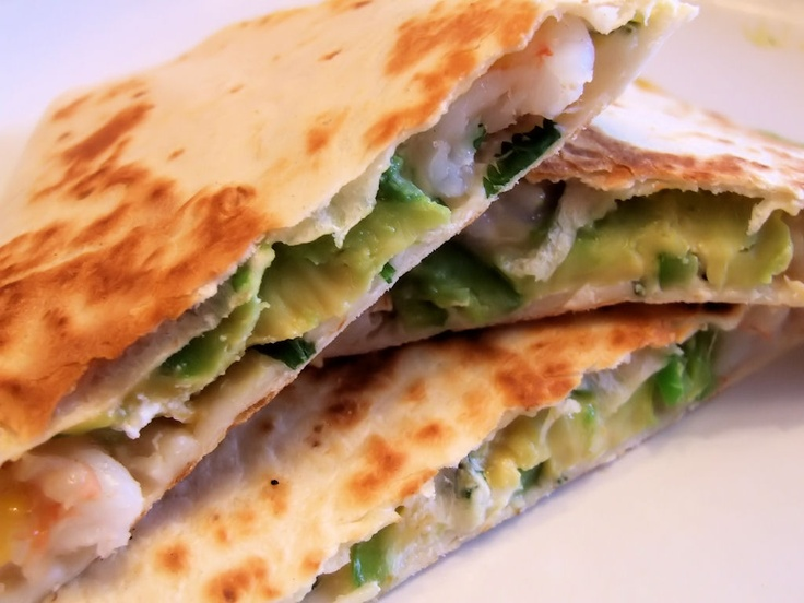 Shrimp and avocado quesadillas   Easy Peasy Recipes   Pinterest