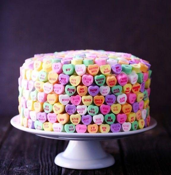 Conversation Heart cake.