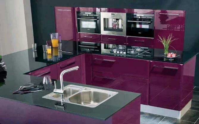 Purple Kitchen Design Inspiration Pinterest