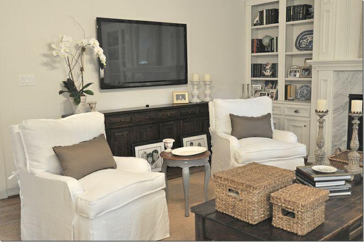 TV on wall fireplace design Home Decor Pinterest