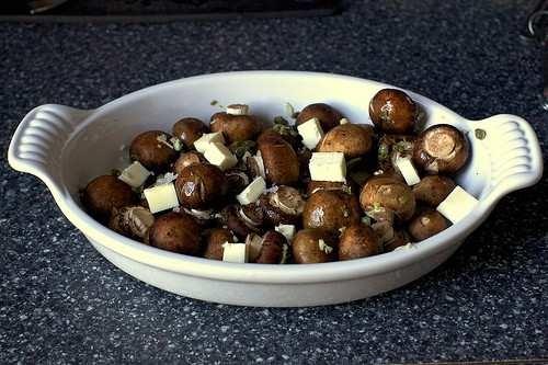 Garlic butter roasted mushrooms. | Yummy!! | Pinterest