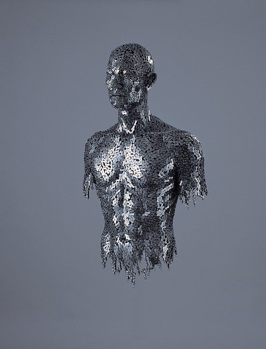 Figurative Sculptures Made From Tightly Welded Chains by Young Deok Seo