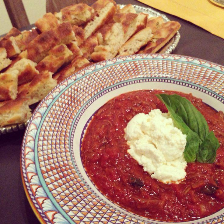 Short rib Ragu with homemade ricotta | Dinner Sisters | Pinterest