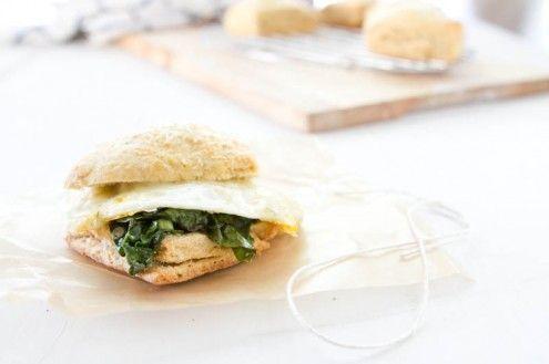 ... Ella | Herb Biscuit, Swiss Chard, and Egg Sandwich | Naturally Ella