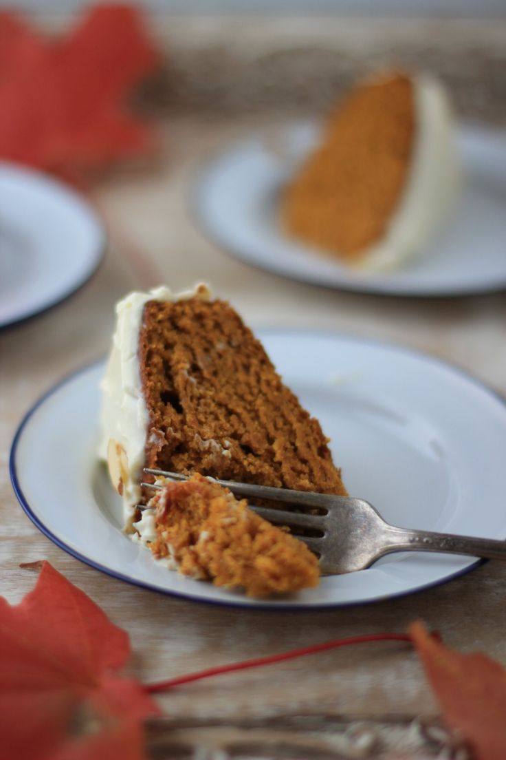 Pumpkin Spice Cake with Honey Cream Cheese Frosting - Messy Kitchen ...