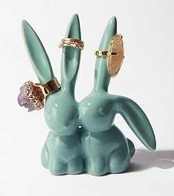 cute bunnies ring holder | something for my room