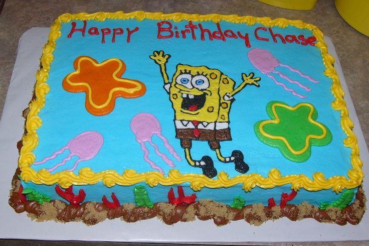 ... Spongebob Sheet Cake — Childrens Birthday Cakes Cake on Pinterest