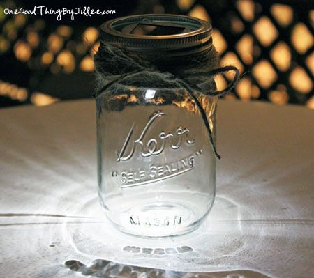 DIY Solar-Powered Mason Jar Luminaries | One Good Thing by Jillee