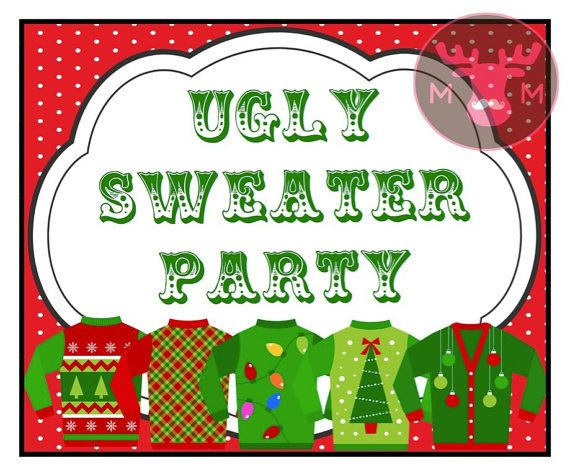 INSTANT DOWNLOAD Ugly Sweater Party Photo Booth by TheManicMoose