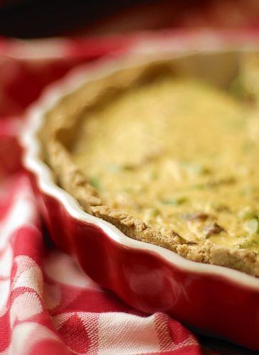 Gluten-Free Salmon-Asparagus Quiche | dinner | Pinterest