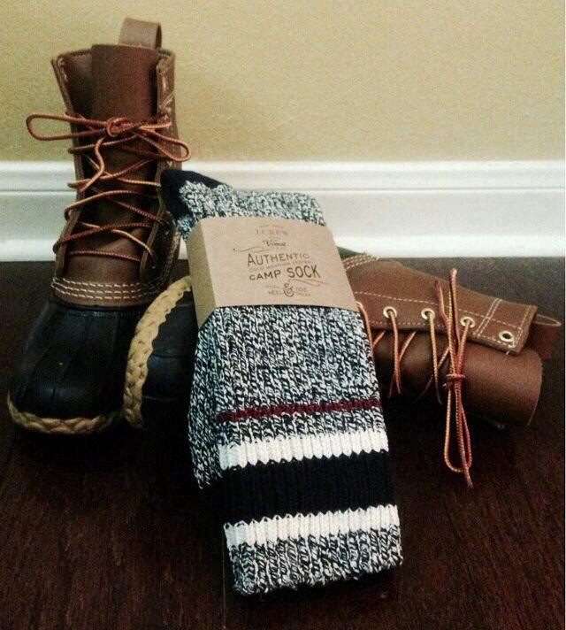 bean boots socks closet