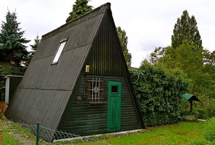 Pin by elise buhn on tiny cabins inside out pinterest for Small a frame house plans free