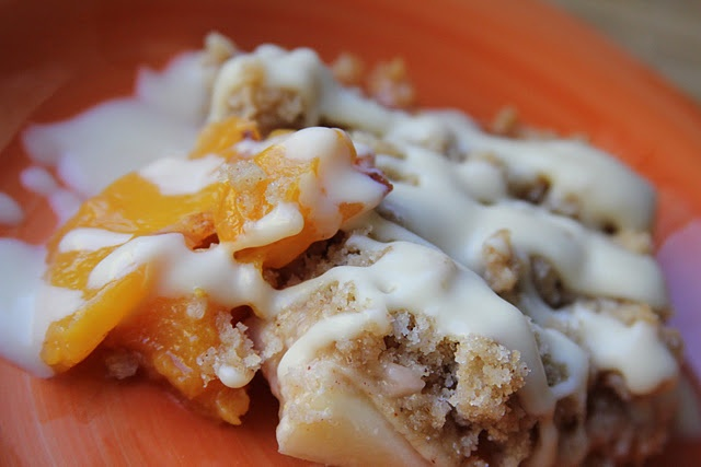 Peach Crisp with a Maple Cream Sauce | Recipes to Try | Pinterest